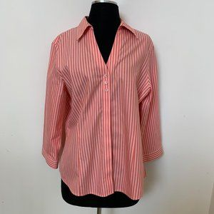 Foxcroft SZ 12 non-iron women button up shirt top